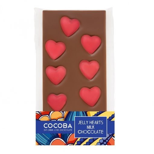 VD JELLY HEARTS MILK CHOCOLATE BAR