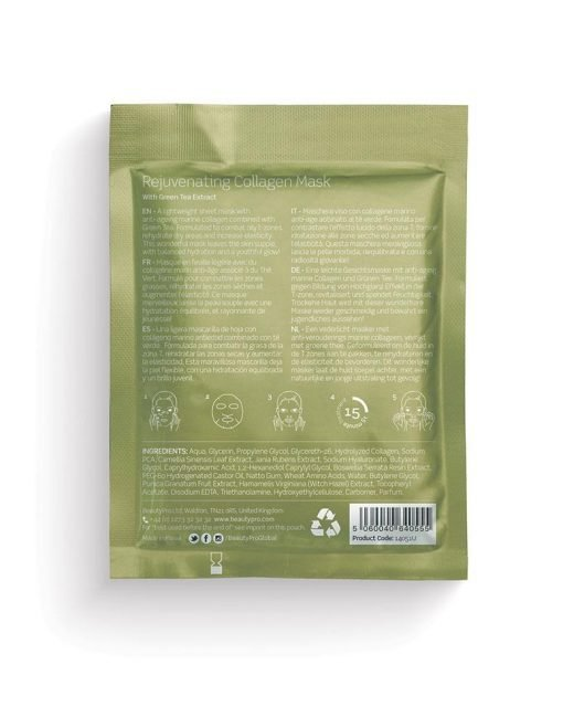 REJUVENATING COLLAGEN SHEET MASK WITH GREEN TEA EXTRACT-[best_gifts_for_women]-[gifts_for_her]-Seventeen Minutes