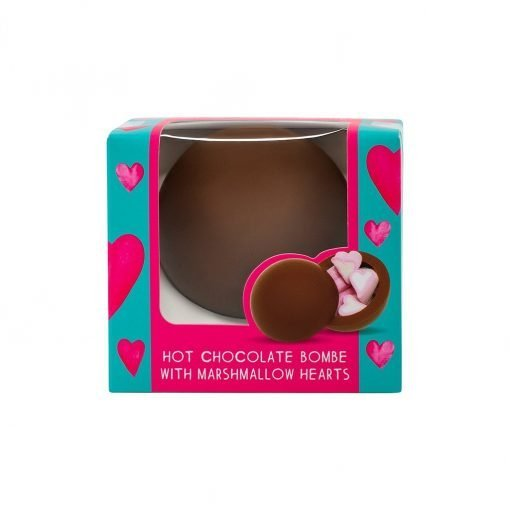VD HOT CHOCOLATE BOMBE WITH HEART MARSHMALLOWS