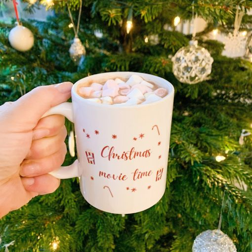 CHRISTMAS MOVIE TIME MUG-[best_christmas_gifts_for_her]-[thoughtful_christmas_gifts_for_her]-[christmas_gift_ideas_for_women]-Seventeen Minutes