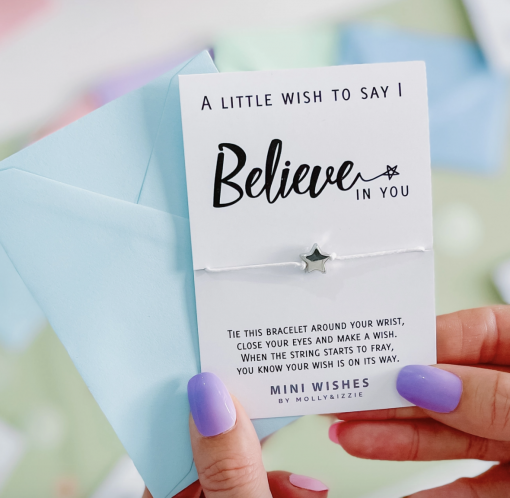 'I Believe In You' Wish Bracelet