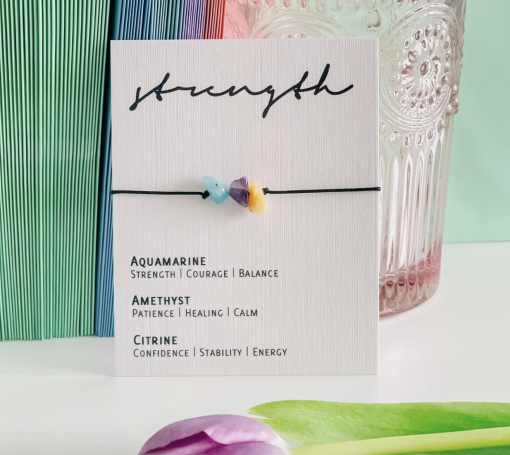 'Strength' Crystal Bracelet
