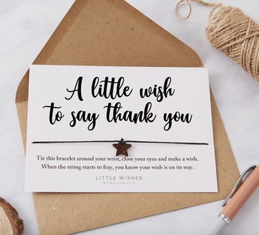 'A Little Thank You' Wish Bracelet