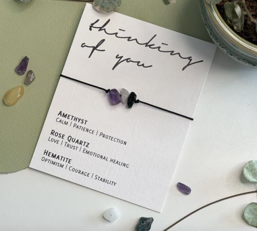 'Thinking of You' Crystal Bracelet