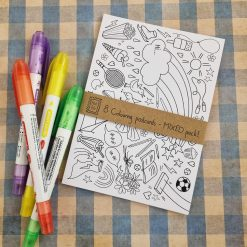 8 x Colouring Postcards